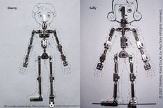 Armatures are for Davey and Goliath's Snowboard Christmas #Armature #Stopmotion