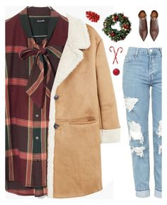 """22 days till Christmas"" by genesis129 ❤ liked on Polyvore featuring Madewell, MANGO, Topshop, Valentino, Improvements, Christmas, burgundy, fashionset, ChristmasSeries and 25daystillchristmas"