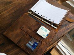 A5 folio leather organizer ipad mini binder by LUSCIOUSLEATHERNYC