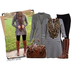 Striped Dress & Riding Boots