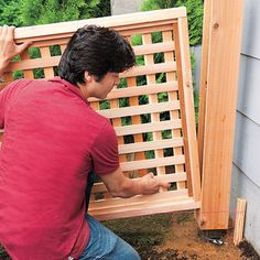8 Surprising Cool Tips: Backyard Fence Painting temporary fence on concrete.Temporary Fence On Concrete glass fence backyard.Temporary Fence On Concrete. Bamboo Fence, Cedar Fence, Lattice Fence Panels, Lattice Wall, Square Lattice, Front Yard Fence, Fence Gate, Low Fence, Patio Fence