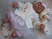KNITTING PATTERN KSB 24*** MARTHA **CARDIGAN SET WITH BUNNY TOY, FOR YOUR BABY OR REBORN DOLL