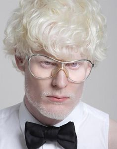 albino model Stephen Thompson for Givenchy 2011