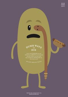 Dumb Ways to Die - Poster