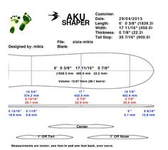 Surfboard Template Pdf Printable alaia template