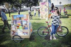 "The city of Oakland's ""Bike Library"" - photo by Michael Cuffe. Designed by local builder, Kick Trailer in late  2013."