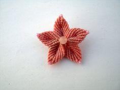 Macrame brooch. Flower brooch. by asmina on Etsy, $16.00