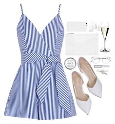 Finders Keepers blue and white cotton poplin playsuit Striped, adjustable shoulder straps, wrap-effect front, front pleats, side pockets. Cotton Jumpsuit, Short Jumpsuit, Jumpsuit Dress, Striped Jumpsuit, Black Jumpsuit, Blue Jumpsuits, Playsuits, Rompers Women, Jumpsuits For Women