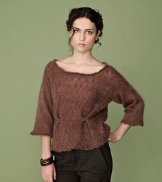 Rowan Magazine 54. From the story, Essentials, comes Sherry designed by Marie Wallin using Kidsilk Haze.