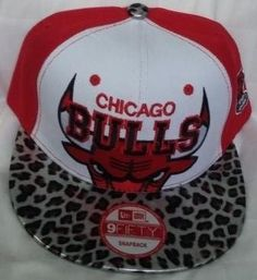 Gorra Chicago Bulls Animal Print Plana Ajustable Roja. - Bs. 3.700 . c12a56ec872