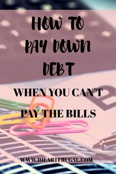Are you in debt? Wouldn't it be amazing to live debt-free? It is difficult when you are living pay check to pay check and have no money to pay your bills. Learn how to budget your money, save for an emergency fund, and get out of debt once and for all!