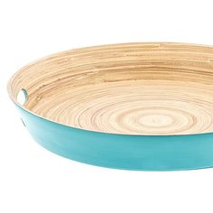 Casa Uno Bamboo Round Tray with Handles