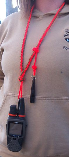 Custom GPS/Dog Whistle lanyard