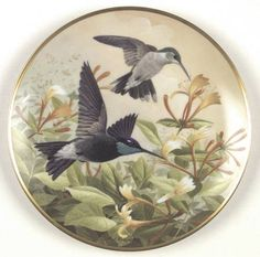 Franklin Mint Birds of The Country: Hummingbird - Artist: A. J. Rudisill