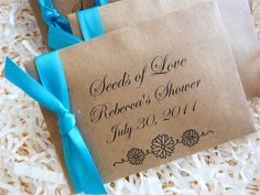 Seeds Of Love California Poppy Favors EcoFriendly by ifiwerecards, $30.00
