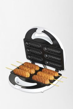 This is a corndog maker $30.00 but... I COULD MAKE DEEP-FRIED STYLE CANDY BARS!