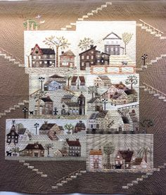 """""""50 Variations of Yoko Saito's Mystery Quilt"""":  an exhibit by Quiltmania at the…"""