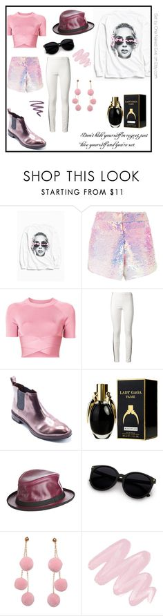 """""""Lady Gaga"""" by onenakedewe ❤ liked on Polyvore featuring Urban Outfitters, Manish Arora, T By Alexander Wang, Haider Ackermann, Brunello Cucinelli, Børn, Overland Sheepskin Co., Humble Chic, Obsessive Compulsive Cosmetics and bandtees"""