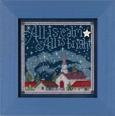 All is Calm Beaded Counted Cross Stitch Kit Mill Hill Buttons & Beads 2015 Winter Series Beaded Cross Stitch, Counted Cross Stitch Kits, Cross Stitch Embroidery, Cross Stitch Designs, Cross Stitch Patterns, Loom Patterns, Christmas Cross, Christmas Tree, Christmas Minis