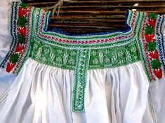 Belt Included Colorful Blouse Free Shipping Traditional Mexican Blouse Cornfield Embroidered Blouse Handmade in Mexico