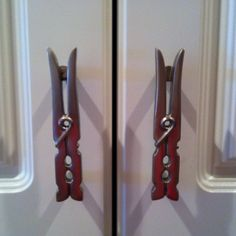 Clothes Pin Handles For Your Laundry Room Cabinet Doors My Mother In Law