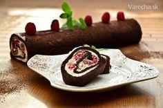 Čokoládovo-malinová roláda (bez múky)