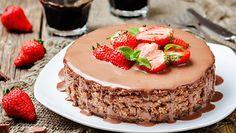 Strawberry-Nutella cheesecake  😍🍓