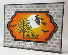 Hi Stampers,  Happy Monday friends !  I know what you're probably thinking Halloween already ?  Well I guess I could have posted a Christmas card BUT..... Christmas is (4) months away where as Hallowe