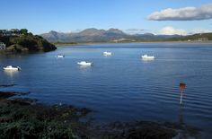 September looking lovely in the long light of a descending Sunday sun. Mountains viewed across the Afon Dwyryd estuary from Borth-y-Gest. Long Lights, Snowdonia, Mountain View, September, Sunday, River, Mountains, Gallery, Artist