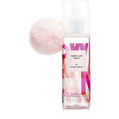 exclusively at ULTA: SWEET LIKE CANDY Hair Mist by Ariana Grande. Things get even sweeter with a cotton-candy inspired pom-pom hair tie, your free gift, exclusively at ULTA. Ariana Grande Perfume Set, Ariana Grande Fragrance, Ari Perfume, Perfume Gift Sets, Sweet Like Candy, Pom Pom Hair Ties, Ariana Merch, Candy Hair, Hair Mist
