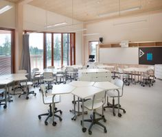 Modern Classroom, Classroom Design, Classroom Decor, University Interior Design, Room Interior Design, Modular Table, University Dorms, Learning Spaces, Learning Environments