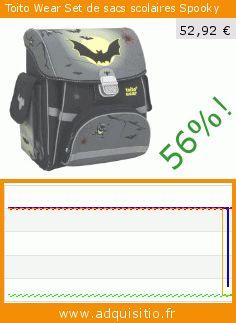 Toito Wear Set de sacs scolaires Spooky (Luggage). Réduction de 56%! Prix actuel 52,92 €, l'ancien prix était de 119,98 €. https://www.adquisitio.fr/toito-wear/set-sacs-scolaires-spooky