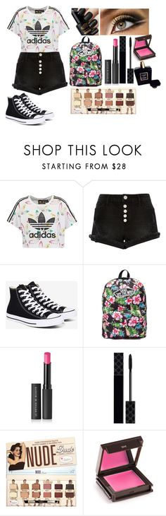 """School In Fashion"" by queenalisa on Polyvore featuring adidas Originals, River Island, Converse, Vans, Le Métier de Beauté, Gucci, Jouer and Chanel"