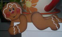 Gingerbread Painting Patterns | Hand Painted Gingerbread Door Huggers by stephskeepsakes on Etsy