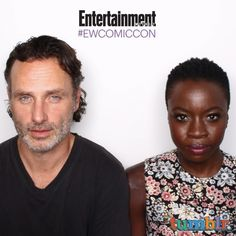 Comic-Con 2015: EW's Celebrity GIF Guide, Day 3   Andrew Lincoln and Danai Gurira, 'The Walking Dead'   EW.com