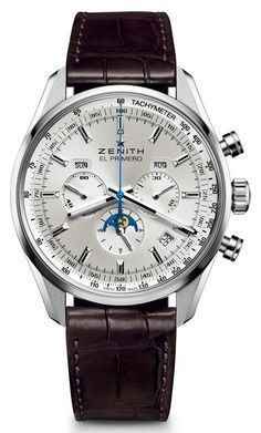Zenith El Primero 410 Complete Calendar Moonphase Men's Watch - Men's style, accessories, mens fashion trends 2020 Patek Philippe, Omega, Accessoires Iphone, Timex Watches, Men's Watches, Fashion Watches, Skeleton Watches, Silver Pocket Watch, Swiss Army Watches