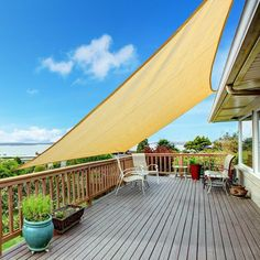 Outdoor Canopy Desert Sand Sun Shade Sail Perfect for Patio Lawn Garden Backyard X - Outdoor Shade - Ideas of Outdoor Shade Deck Shade, Outdoor Shade, Pergola Shade, Balcony Shade, Triangle Shade Sail, Sun Sail Shade, Sun Sails, Pergola Plans, Deck Pergola