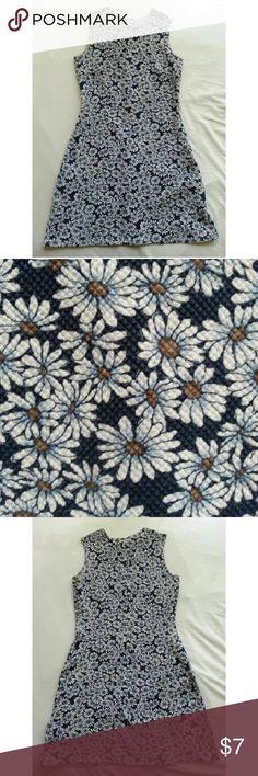 Blue mini dress with flower pattern Blue mini dress with flower pattern. Cotton blend material, makes it very comfortable and form fitting.  Bundles=discounts ? aqua blues Dresses Mini