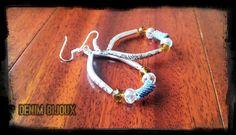 BO fait main. Bijoux en perles et Jeans! Recycler et créer, voici ma recette pour réaliser ces bijoux. Plus d'info sur :  https://www.facebook.com/denimbijoux/