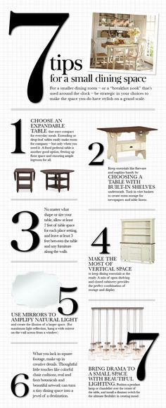 7 Tips for a Small Dining Space | Pottery Barn -- picture of built in (?) buffet