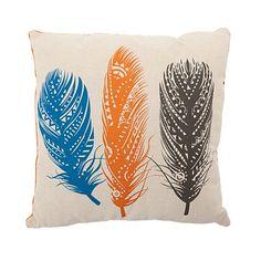 Habito Habito Tribal Feathers Cushion Multi 43cm x 43cm Throw Pillows, Decorating, House, Decor, Toss Pillows, Decoration, Cushions, Home, Decorative Pillows