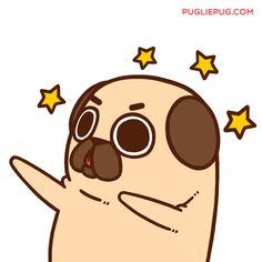 Puglie Pug — It's the start of the week - make it YOUR week! Cute Animal Drawings, Kawaii Drawings, Cute Drawings, Pug Wallpaper, Pug Cartoon, Pug Art, Pug Love, Leprechaun, Cute Illustration