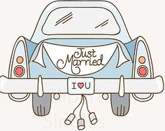 Clipart Wedding Just Married ...