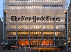 Renzo Piano Building Workshop & FX Fowle Architects' New York Times Building, New York City Renzo Piano, New York Times, Ny Times, Green Design, Money In Politics, New York Architecture, Classical Architecture, Architecture Diagrams, Architecture Portfolio