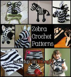 Free Zebra Crochet Pattern links on Moogly at http://www.mooglyblog.com/zebra-crochet-patterns-free/