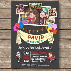 Gravity Falls Gravity Falls invitations Gravity by PartyGiraffe