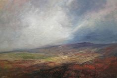 Kristan Baggaley Break in the Clouds, Over Stanage Edge. Mixed Media on Canvas