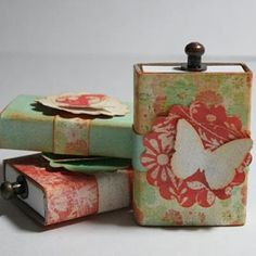 Matchbox Gift Boxes {Paper Craft} to store earbuds or necklace in your purse?