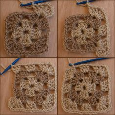 Here Is Round Three of the Crocheted Granny Square.