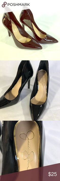 Black Jessica Simpson patent leather pumps Display pair. Not worn, black patent leather pumps!  Please be sure to check out my closet for more great items. All authentic guarantee quality and quick shipping. Bundles , be sure to like items that you were interested in, as private discounts are offered. Happy shopping 👠👖👗👡 Jessica Simpson Shoes Heels
